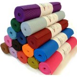 Bean Yoga Mat: Practice your yoga in color on this Extra Thick 1/4 inch Premium Sticky Mat. amazon.com $21.95
