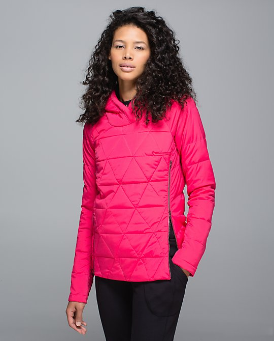 Fluffed Up Pull Over: Down Running Coat, layer this over a wicking top for perfectly regulated body temp for your runs and for post workouts warmth.  lululemon.com $168.00