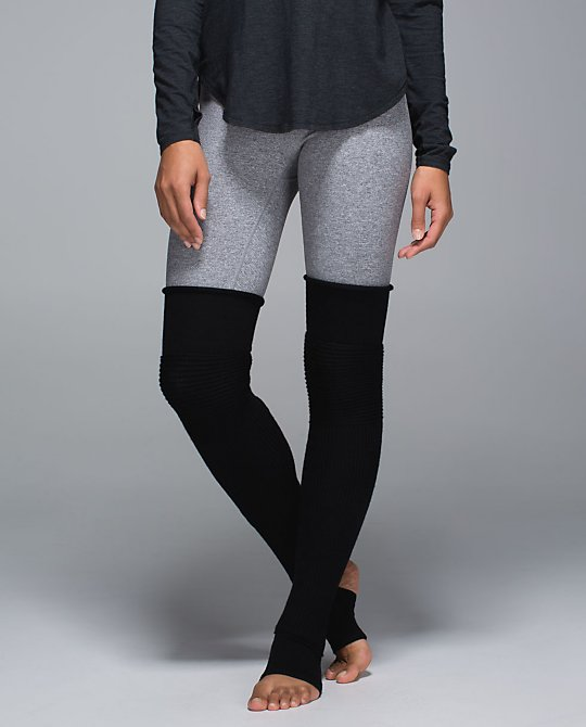 Yep they are back! From the dance studio to the yoga studio to the street, these thigh-high leg warmers make us feel Fame-ous. We made them with sweat-wicking Merino Wool for warm-ups in chilly studios and an articulated knee that bends with our plies, pirouettes and pigeon poses. (Cue theme song...)  Lululemon.com $58.00